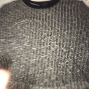 Forever 21 Tops - marked gray forever 21 varsity crop top boxy fit